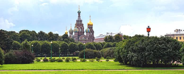 Kanlı Kilise Manzarası - St. Petersburg