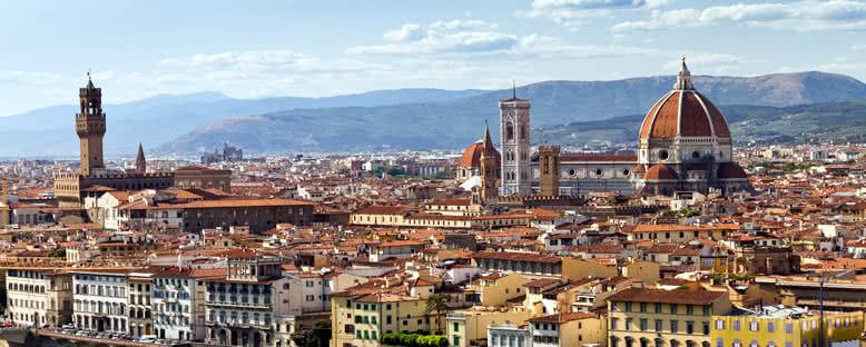 Palazzo Vecchio ve Katedral - Floransa