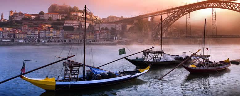 Nehirde Gün Batımı - Porto