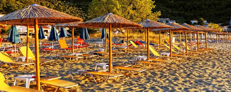 Altın Plaj'da Gün Batımı - Thassos