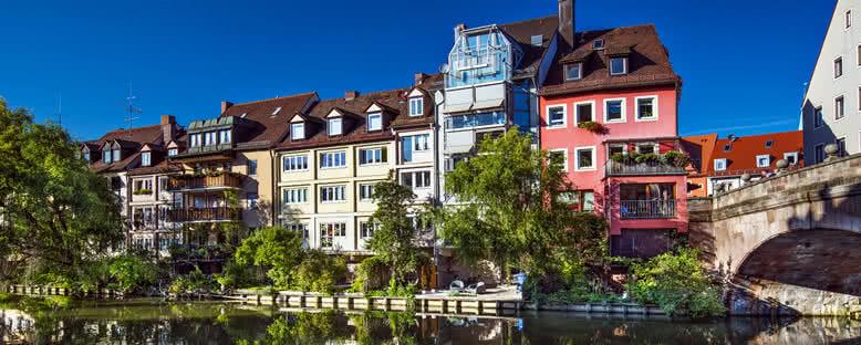 Pegnitz Nehri ve Kent Manzarası - Nürnberg