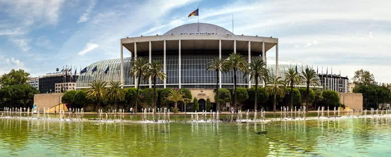 Müzik Sarayı ve Turia Bahçeleri - Valencia