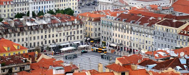 Praca Da Figueira ve Tarihi Merkez - Lizbon