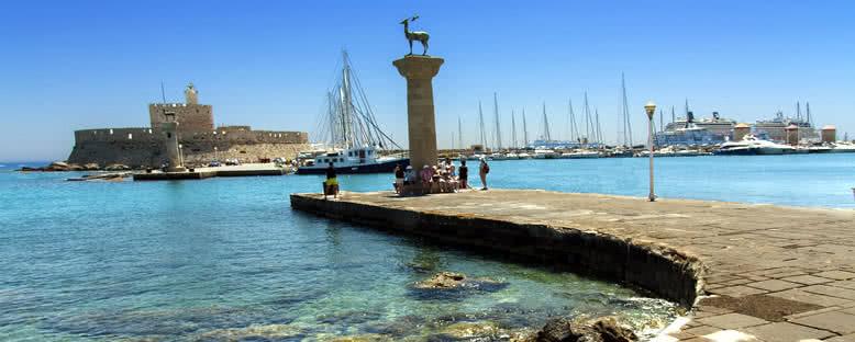 Mandraki Limanı ve Kale - Rodos