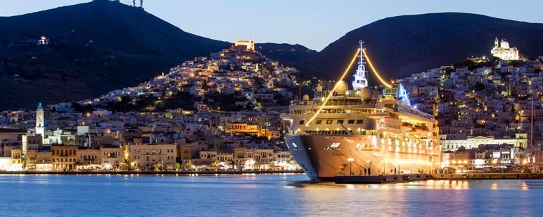 Akşam Işıkları ile Celestyal Cruise