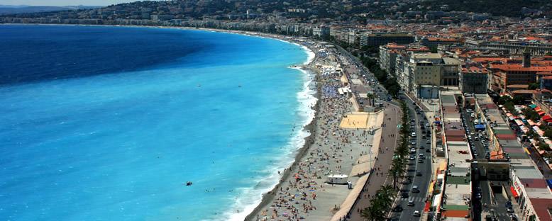 Promenade des Anglais ve Plaj Manzarası - Nice