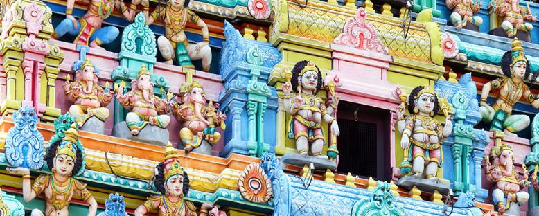 Sri Mariamman Hindu Tapınağı Detayı - Singapur