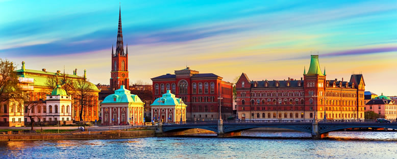 Gün Batımında Tarihi Merkez - Stockholm