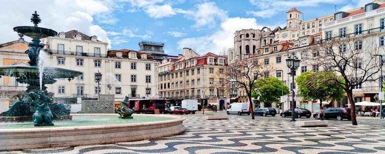 Baixa Bölgesi ve Rossio Meydanı - Lizbon