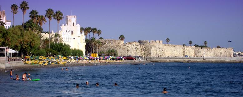 Tarihi Kale ve Plaj - Kos