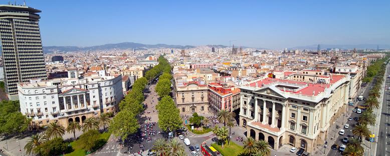 Şehir Manzarası ve La Rambla - Barcelona