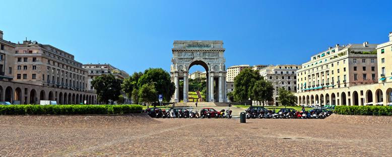 Piazza della Vittoria ve Zafer Anıtı - Cenova