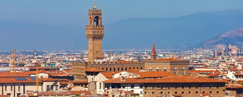 Palazzo Vecchio ve Çan Kulesi - Floransa