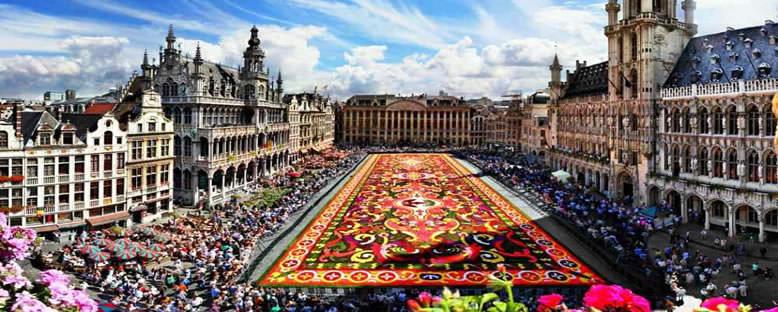 Grote Markt ve Çiçek Halısı - Brüksel