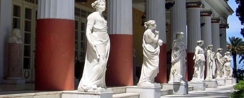 Achilleion Sarayı Terası - Korfu