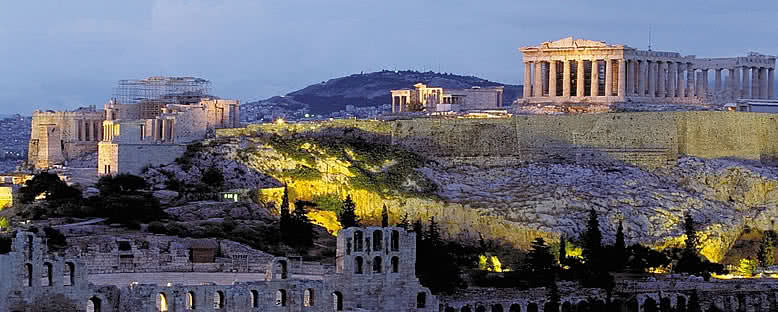 Akropolis Akşam Manzarası - Atina
