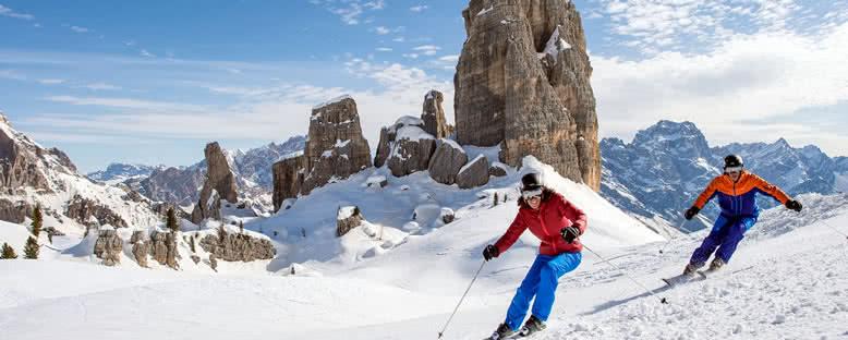 Alpler'de Kayak - Cortina d'Ampezzo