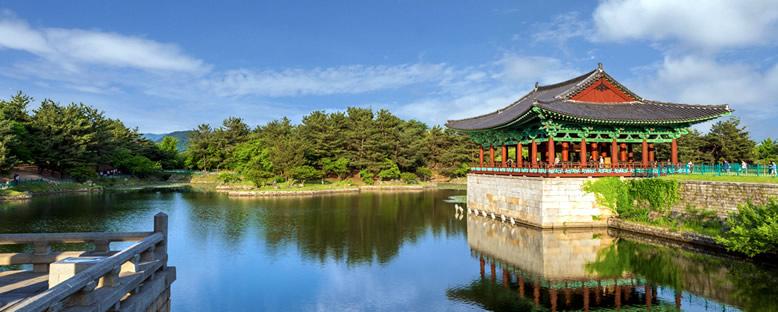 Anapji Gölü Kıyıları - Busan