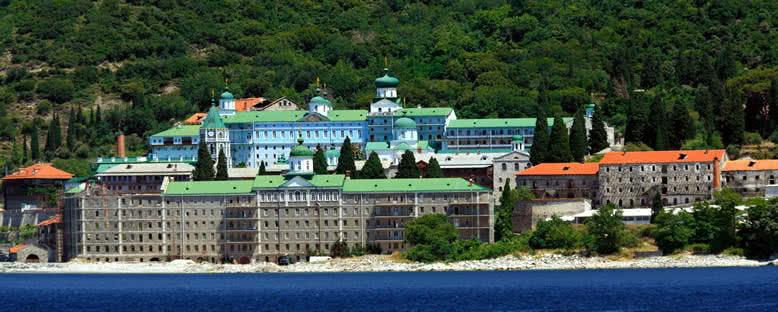 Athos Dağı'ndaki Saint Panteleimon Manastırı - Halkidiki