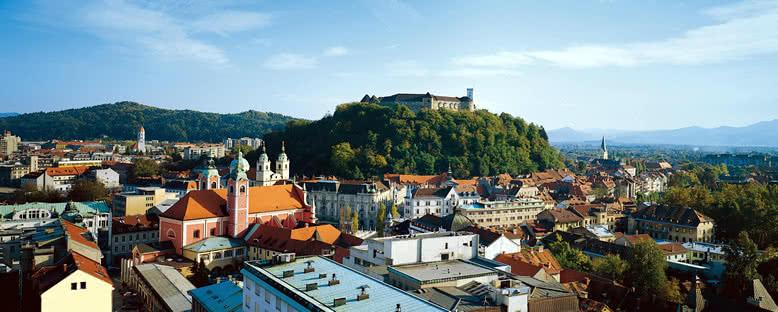 Ljubljana Kalesi ve Şehir Manzarası - Ljubljana