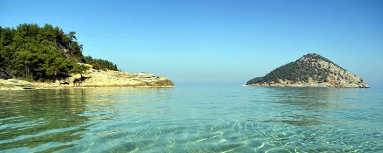 Cennet Plajı'nda Deniz Manzarası - Thassos