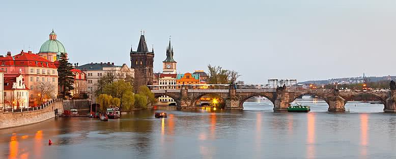 Charles Köprüsü'nde Günbatımı - Prag