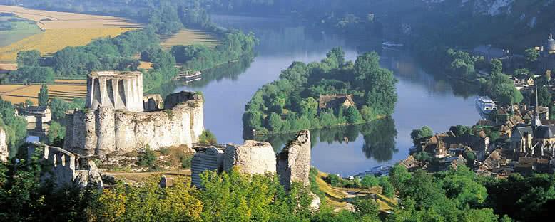 Chateau Gaillard ve Şehir - Les Andelys
