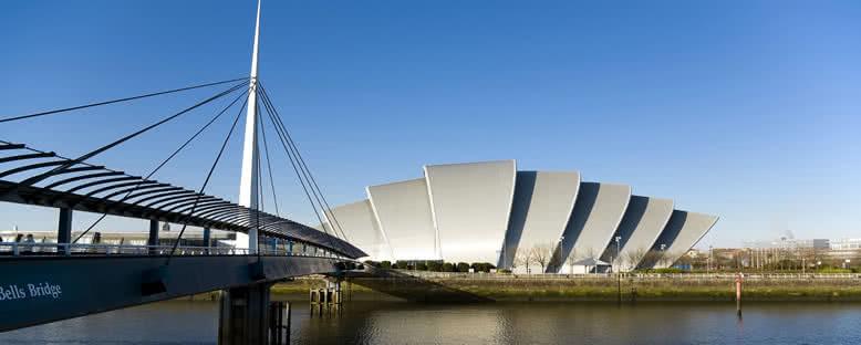 Clyde Oditoryumu ve Bells Köprüsü - Glasgow