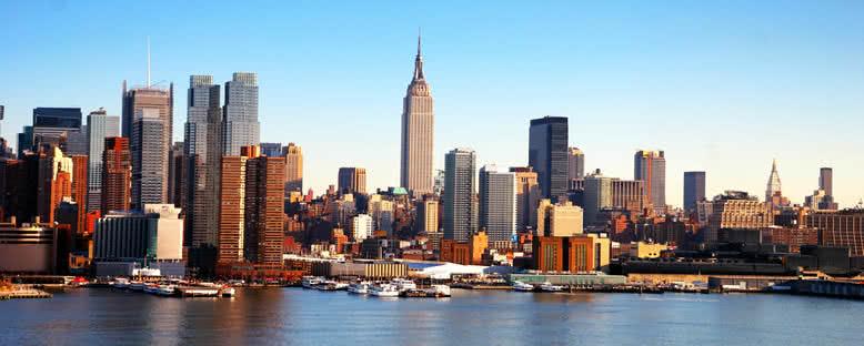 Hudson Nehri'nden Görünüm - New york