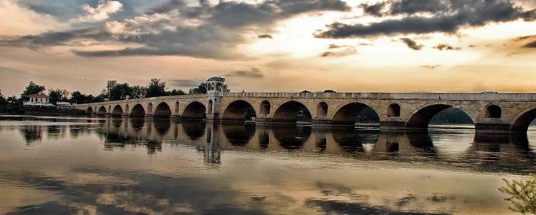 Gün Batımında Meriç Köprüsü - Edirne