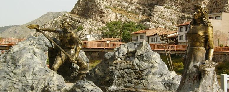 Ferhat ile Şirin Heykelleri - Amasya