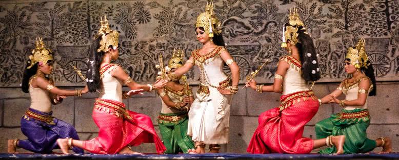 Geleneksel Apsara Dansçıları - Siem Reap