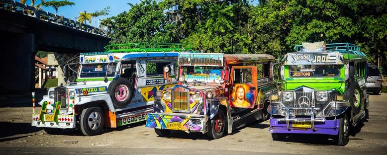 Geleneksel Jeepney Dolmuşlar - Manila