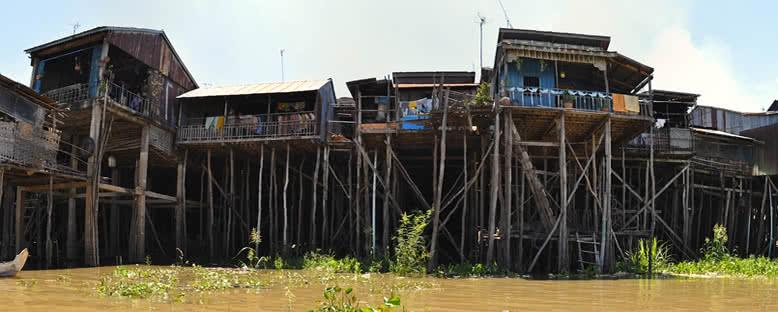 Geleneksel Kıyı Evleri - Kampong Chhnang