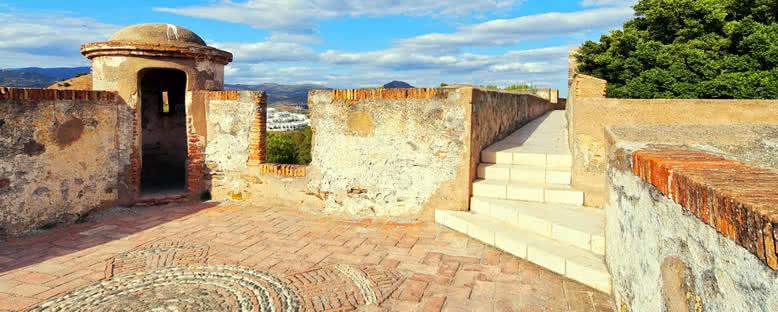 Gibralfaro Kalesi Avluları - Malaga