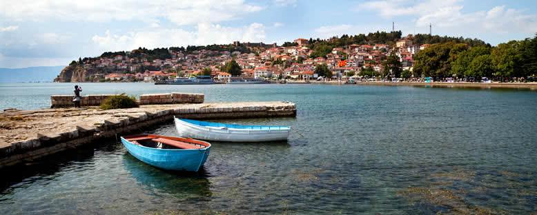 Göl Kıyılarından Şehir Manzarası - Ohrid