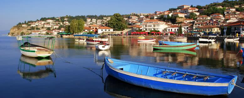Göl ve Şehir Manzarsı - Ohrid