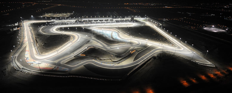 Grand Prix Pisti Gece Manzarası - Bahreyn