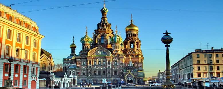 Gün Batımında Kanlı Kilise - St. Petersburg