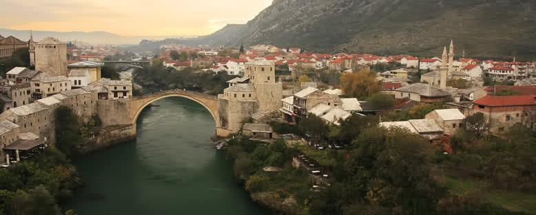 Gün Batımında Kent Manzarası - Mostar