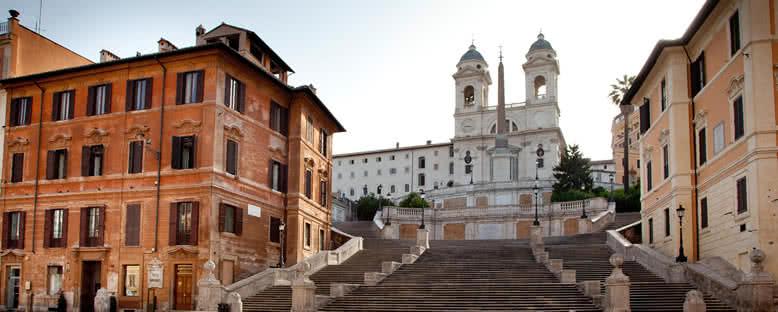 Gün Doğumunda İspanyol Merdivenleri - Roma