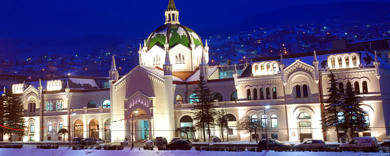 Güzel Sanatlar Akademisi Kış Manzarası - Saraybosna