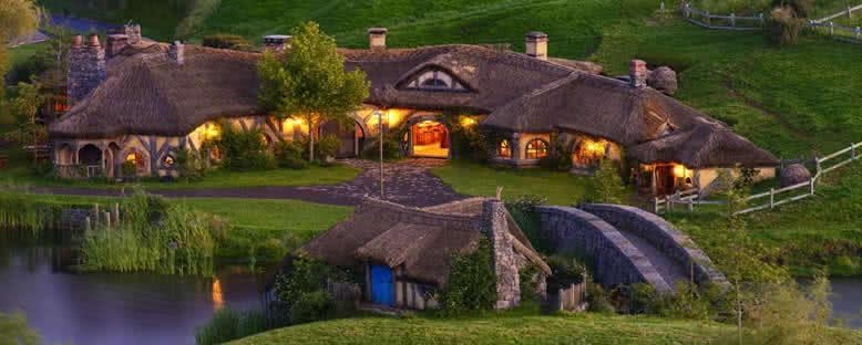 Hobbit Köyü Evleri - Yeni Zelanda
