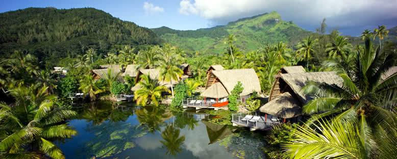 Huahine Evleri - Fransız Polinezyası