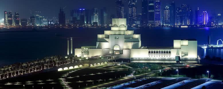 İslam Sanatları Müzesi Gece Manzarası - Doha