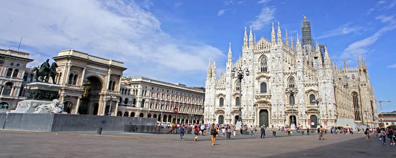 Katedral ve Meydan - Milano