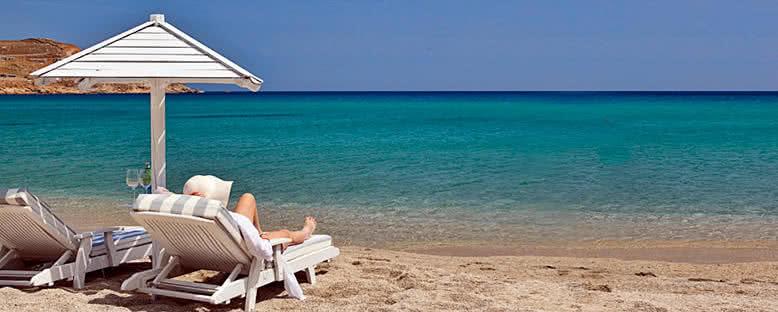 Kalo Livadi Plajı - Mykonos