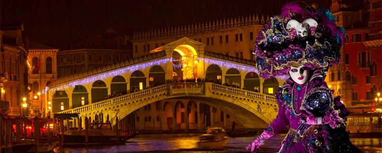 Karnaval Gecesi Manzarası - Venedik