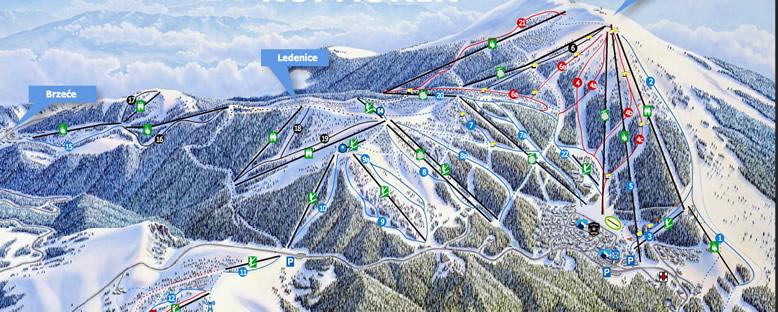 Kayak Haritası - Kopaonik