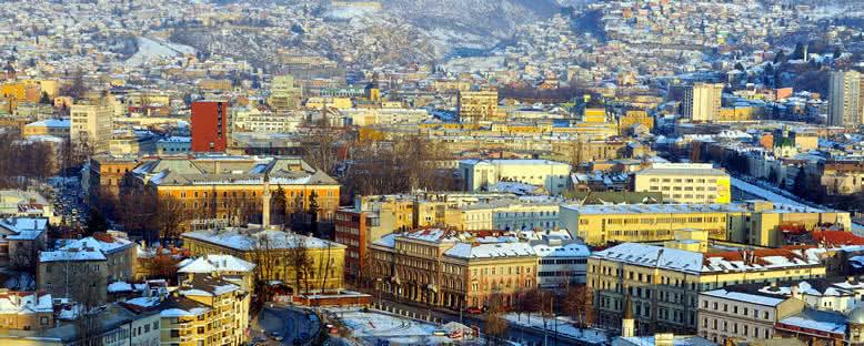 Kış Mevsiminde Şehir Manzarası - Saraybosna